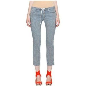 MOTHER Tie Me Up Rascal Jeans On the Road Stripe